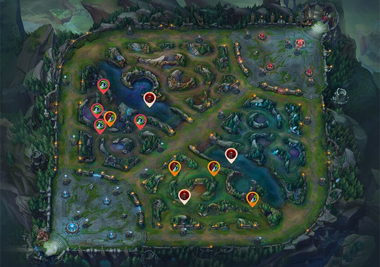 Warding the enemy jungle as red team