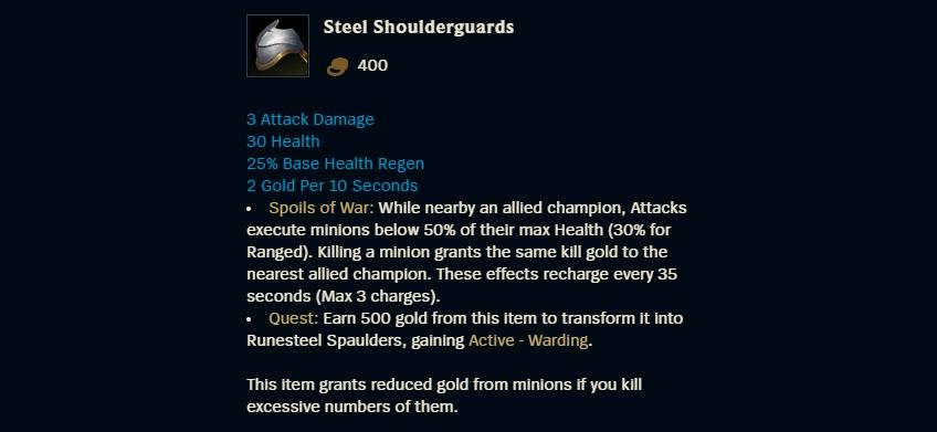 Steel Shoulderguards