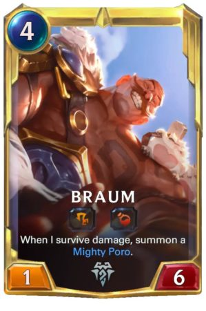 Braum level 2 (LoR card)