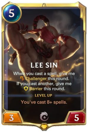 Lee Sin level 1 (LoR card)
