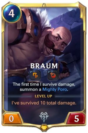 Braum level 1 (LoR card)