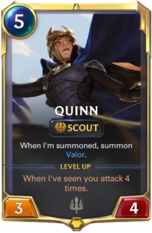 Quinn Level 1 (LoR card)