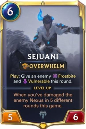 Sejuani Level 1 (LoR card)
