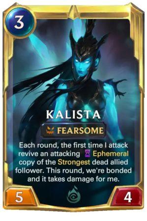 Kalista Level 2 (LoR card)