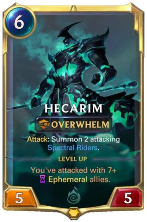 Hecarim level 1 (LoR card)