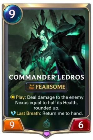 Commander Ledros (LoR card)