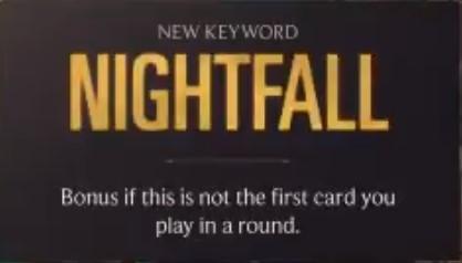 Nightfall keyword description