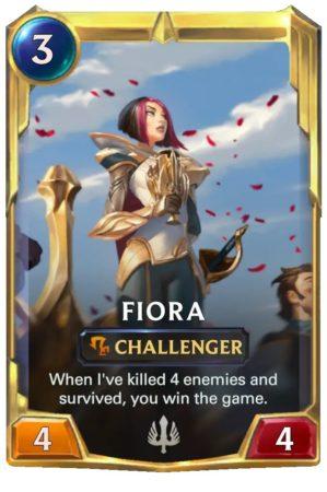 Fiora level 2 (LoR Card)