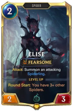 Elise level 1 (LoR card)