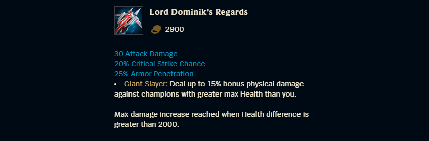 Lord Dominik's Regards