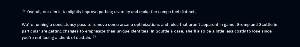 Jungle Camp Adjustments