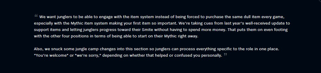 Jungle Items and Changes patch notes explanation