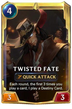 Twisted Fate level 2 (LoR card)