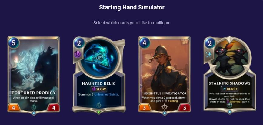 Tortured Prodigy Starting Hand Simulator