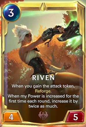 Riven level 2 (LoR Card Reveal)