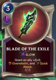 Blade of the Exile (LoR card reveal)