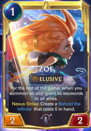 Zoe level 2 (LoR Card Reveal)