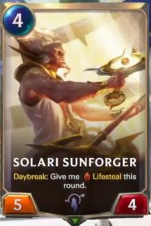Solari Sunforger (LoR Card Reveal)