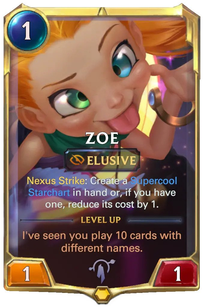 Zoe level 1 (LoR Card)