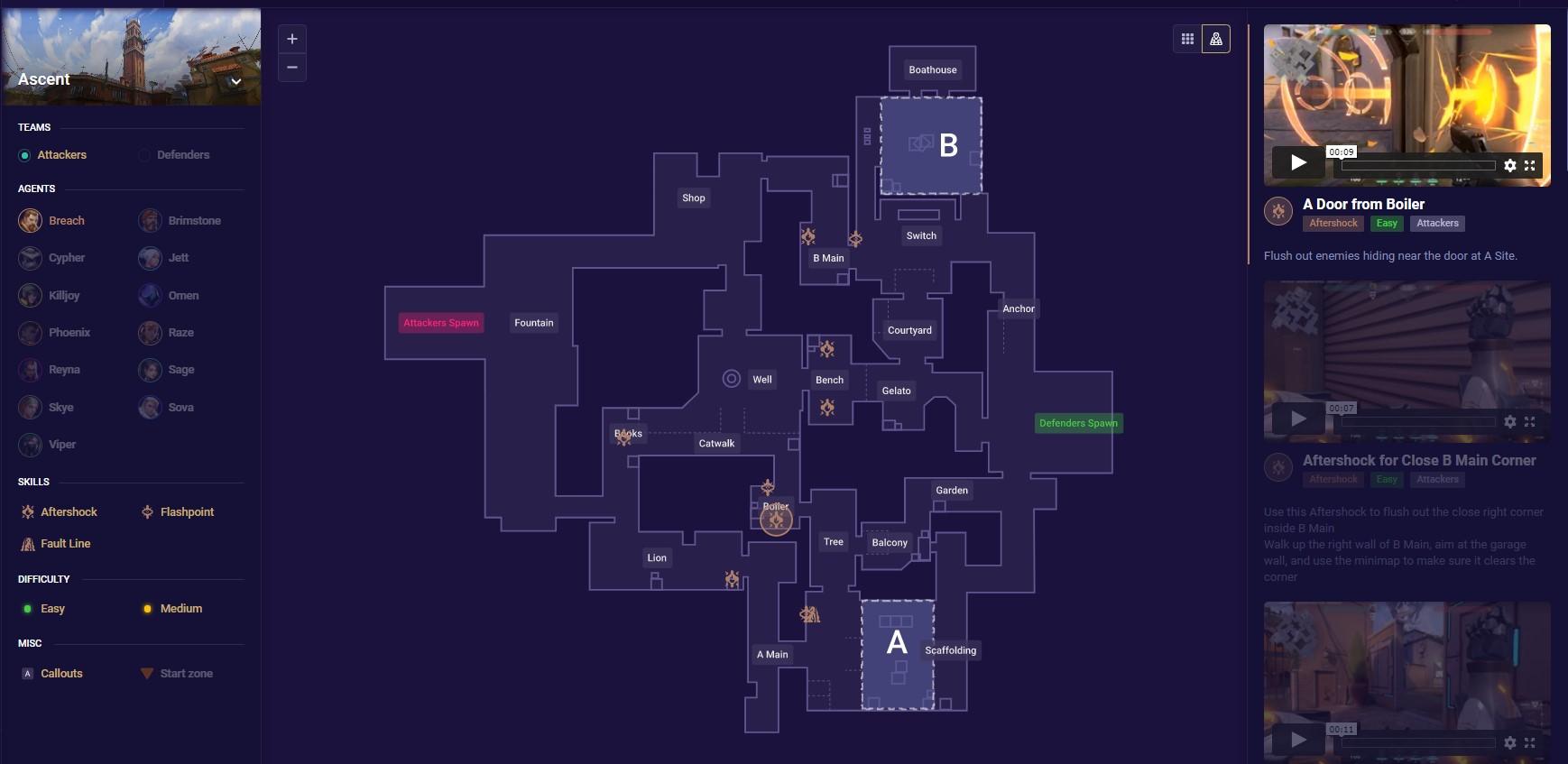 Valorant maps page