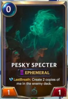 Pesky Spector (LoR Card Reveal)