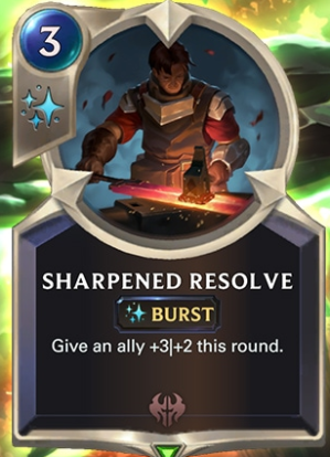 Sharpened Resolve (LoR Card Reveal)
