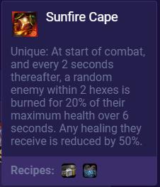 TFT Sunfire Cape