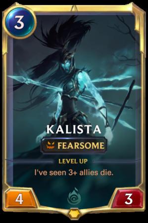 Kalista level 1 (LoR Card)