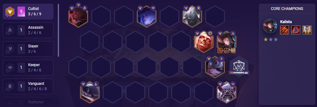 9 Cultists (TFT comp patch 11.2)