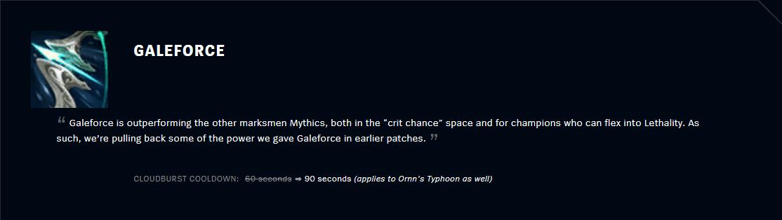 Patch 11.2 GaleForce