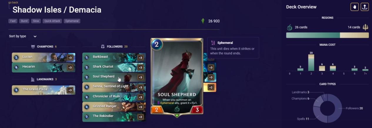 Soul Shepard (LoR Deck Insight)
