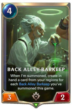 Back Alley Barkeep (LoR Card)