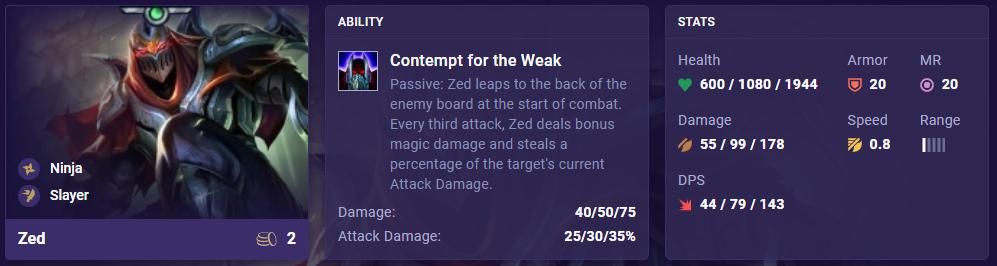 TFT Set 4.5 Zed