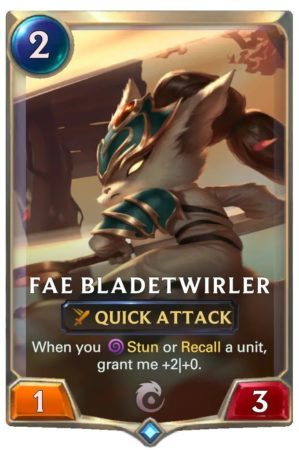 Fae Bladetwirler (LoR Card)