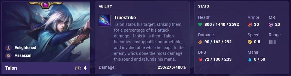 TFT Set 4.5 Talon