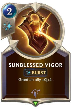 Sunblessed Vigor (LoR Card)