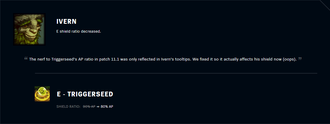 Patch 11.2 Ivern