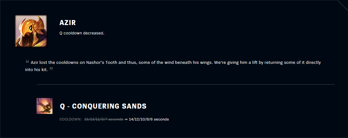 Patch 11.2 Azir