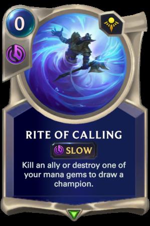 Rite of Calling (LoR reveal)