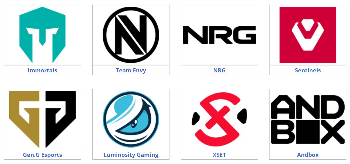VCT NA Teams