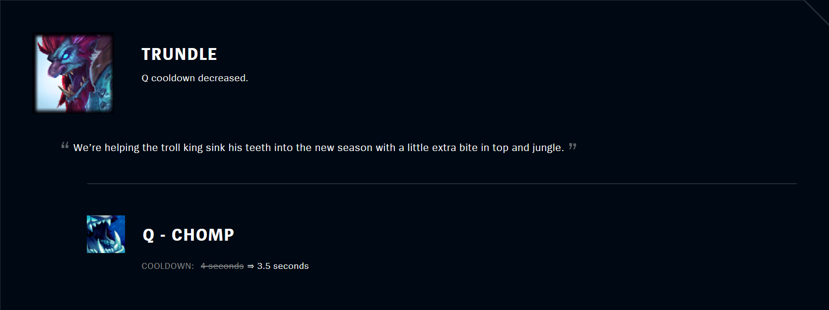 Patch 11.5 Trundle