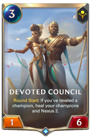 Devoted Council (LoR Card)