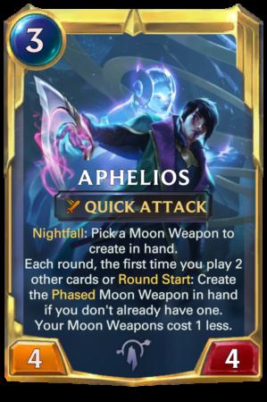 Aphelios level 2 (LoR card)