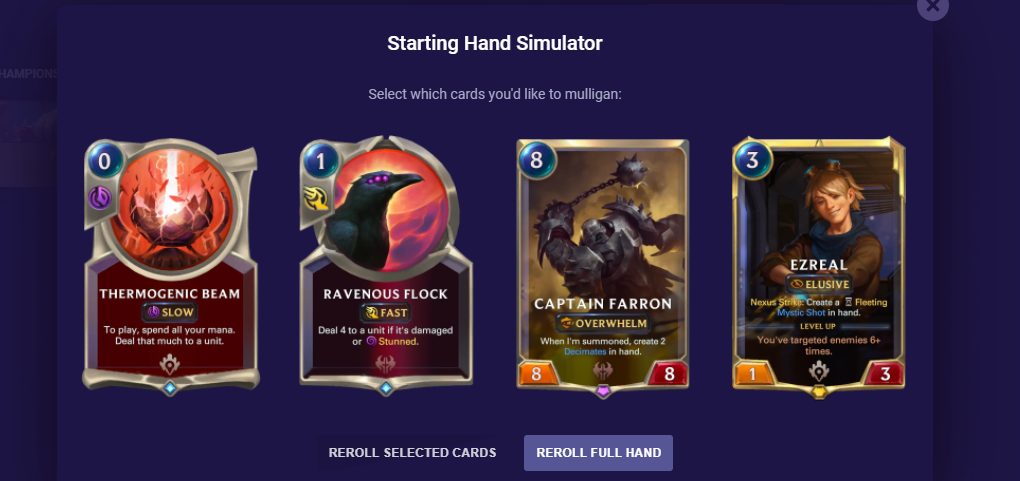 How to Mulligan Example 2