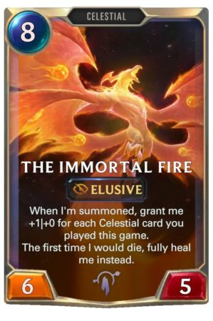 The Immortal Fire (LoR Card)