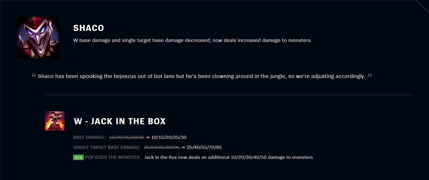 Patch 11.5 Shaco