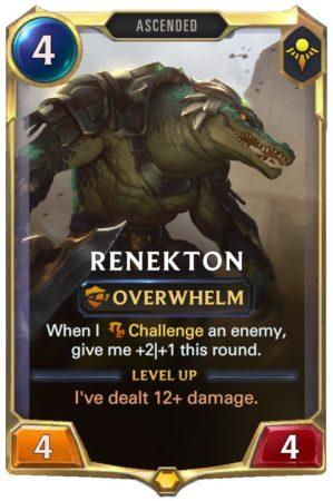 Renekton level 1 (LoR Card)