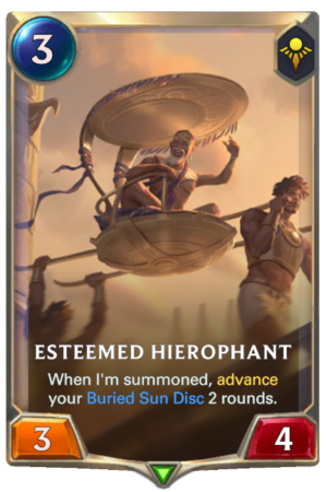 Esteemed Hierohant (LoR Card)