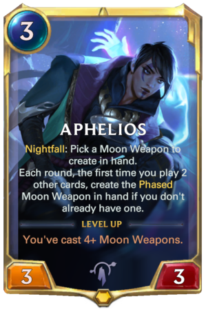 Aphelios level 1 (LoR card)