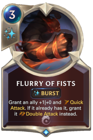 Flurry of Fists (LoR card)
